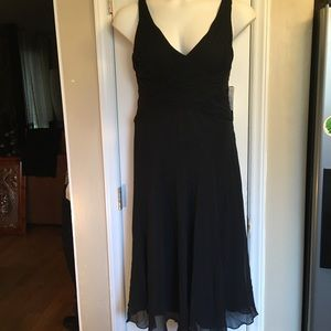 Jones New York Black 100% Silk Cocktail Dress